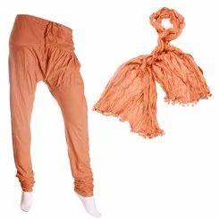 Rusty Brown Colour Chudi Bottom & Cotton Duppata