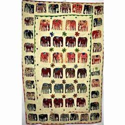 Elephant Kantha Quilt