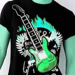 Flashing Guitar on T-Shirt