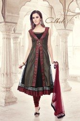 Beautiful Designer Dark Red Colour Suit