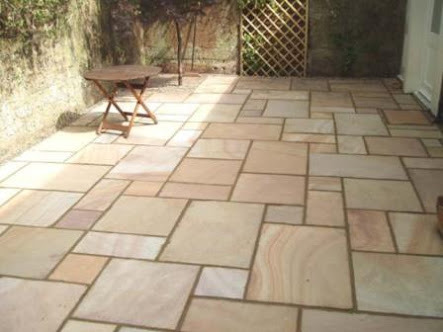Outdoor Tiles Golden Brown Sandstone Tiles For Outdoor Flooring