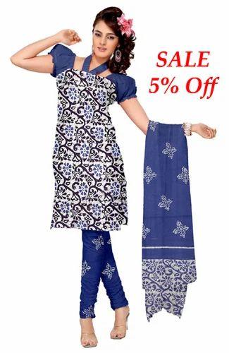 Pure Cotton Batik Block Print Salwar Kameez Suits