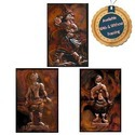 Rural Theme on Copper Sheet - Copper Repousse Wall Mural