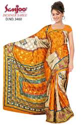 Synthetic Crepe Printed Sarees