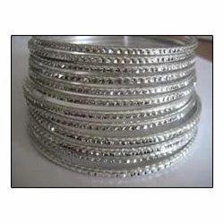 Silver Metallic Bangle Sets