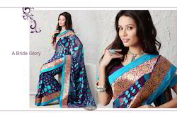 Jacquard Saree with Booti Saree     Var-01