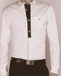Mens Stylish Apparels - Cotton White Shirts Manufacturer from Noida