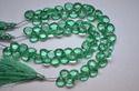Florite Quartz Faceted Heart Beads