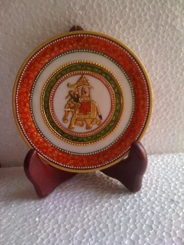 Elephant Design Marble Plate