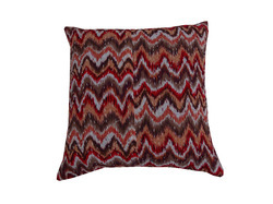Kantha Zigzag Cotton Cushion Cover 16x16