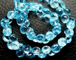 Sky Blue Topaz Micro Faceted Onion Briolettes