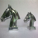 Aluminum Horse Head Sculpture