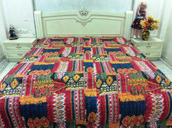 Kantha Cotton Zig Zag Bed Cover