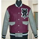 Maroon with Grey Varsity Jacket
