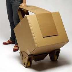 Handle Corrugated Boxes with Rollers