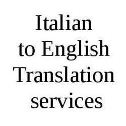 Italian to English Translation Services