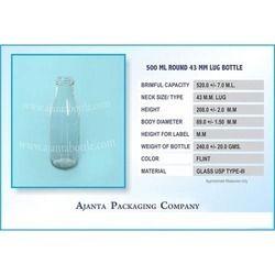 500 Ml Round Water Juice Bottle
