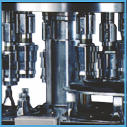 Automatic 4 / 6 Head Plastic Screw Cap Sealing Machinery
