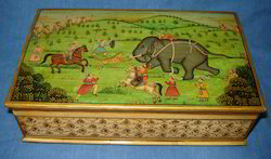 Bone Box Shikar Painting