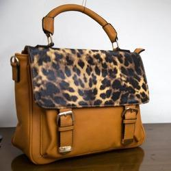 Ladies Leopard Flap Handbags