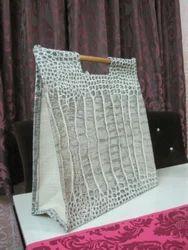 White Design Jute Bag