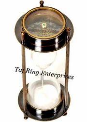 Antique Compass Sand Timer