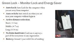 monitor lock and energy saver