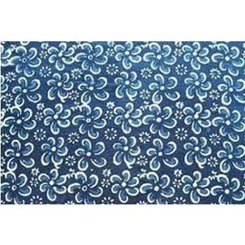 Hand Blocked Dabu Discharge Print Fabric