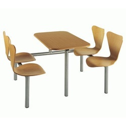 wooden canteen table