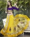 net lehenga style saree with moti sequins bnd 800