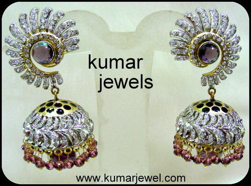 Beaded Antique Jhumki.