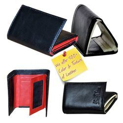 Genuine Leather Two Tone Bi Fold Designer Men's Wallets