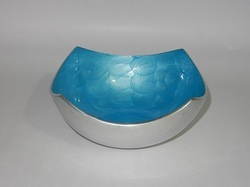 aluminum metal fruit bowl