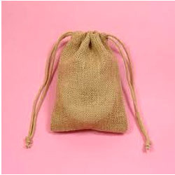 Natural Color Drawstring Bag