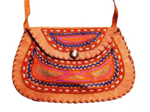 Embroidered Leather Embroidered Leather Bag