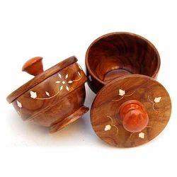 Sindoor Wooden Bowl