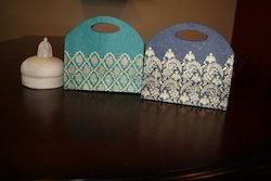 Die Cut Handle Bags with Silk Screen Prints for Weddings,