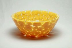 "15"" Yellow Pebbles Washbasin"