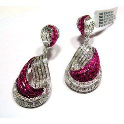 Designer Gold Diamond Earrings