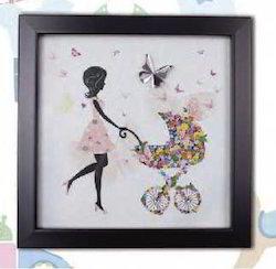 Diya Home Decoration Items Bambino Crystal Wall Art