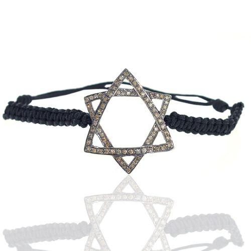 Diamond David Star Macrame Bracelet