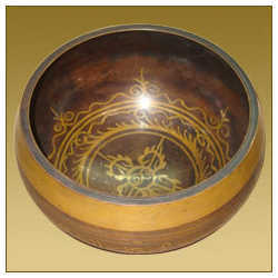 tibetan singing bowl dorjee design