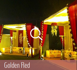 Golden Red Wedding Theme