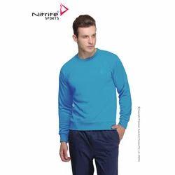 nitrite mens core full sleeves top basic sports sweat shirt
