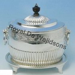 lidded silver plated box