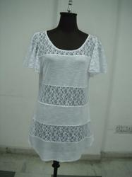 White Knitted Net Tunic