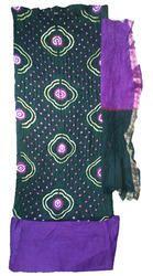 Bandhani Cotton Satin Chakedi Design