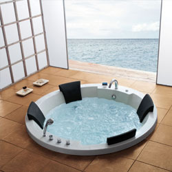 round four seater whirlpool bathtub - Whirlpool Bathtub