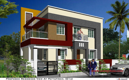 Colour Combination For House Front Elevation : Pics for gt house elevation colour combination