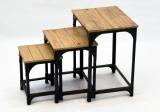 Wooden Nesting Table Set
